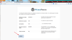 Instalar Wordpress. Paso 3